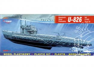 Mirage maquette Sous-marins 40413 U-826 type U-VII Turm IV sous-marin allemand 1/400