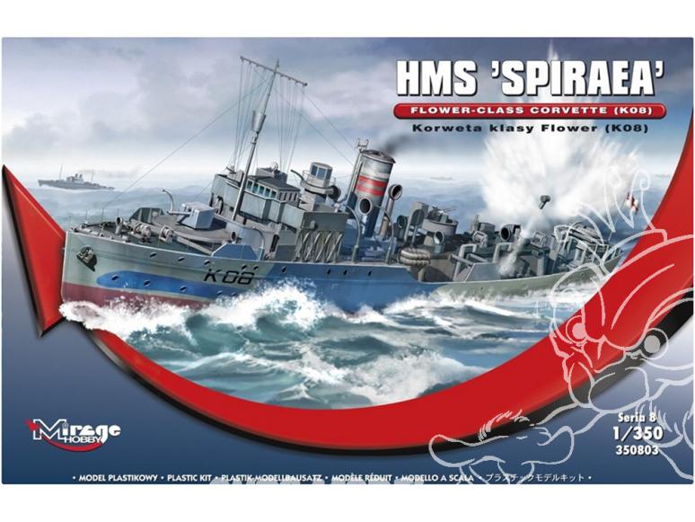 Mirage maquette bateau 350803 HMS SPIRAEA Corvette de classe Flower (K08) 1/350
