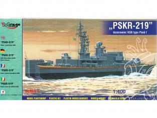 """Mirage maquette Bateau 40423 Corvette PAUK I """"PSKR-219"""" KGB 1/400"""