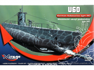 Mirage maquette Sous-marins 400205 Sous-marin allemand U60 type II C 1/400