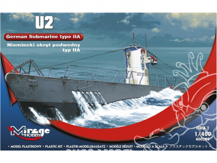 Mirage maquette Sous-marins 400203 Sous-marin allemand U2 type II A 1/400