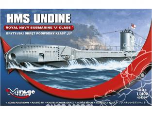 Mirage maquette Sous-marins 404209 Sous-marin HMS UNDINE 1/400