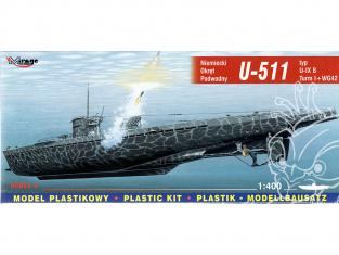Mirage maquette Sous-marins 40042 U-511 type U-IX B Turm I avec WG42 sous-marin allemand 1/400
