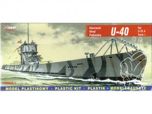 Mirage maquette Sous-marins 40045 U-40 type U-IX A Turm I sous-marin allemand 1/400