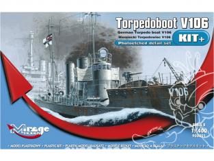 Mirage maquette Bateau 900001 V106 German Torpedo Boat NOUVELLE série de KIT profi-model 1/400