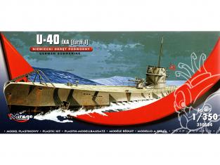 Mirage maquette Sous-marins 350504 U-40 IXA [turm I] Sous-marin allemand 1/350