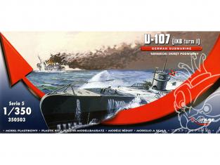Mirage maquette Sous-marins 350503 U-107 (IXB turm I) sous-marin allemand 1/350