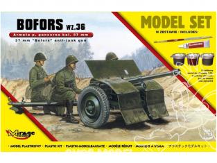 Mirage maquette militaire 835061 MODEL SET BOFORS wz. 36 canon antichar polonais cal.37 mm 1/35