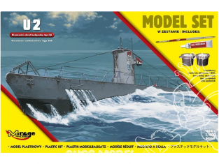 Mirage maquette Sous-marins 840065 Model Set Sous-marin allemand U2 type II A 1/400