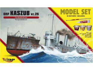 Mirage maquette bateaux 840063 Model Set ORP 'KASZUB' 1935 Navire torpilleur polonais 1/400