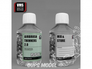 VMS TH01C Airbrush thinners 2.0 Acrylic concentrate - Diluant acrylique 2.0 concentré 200ml