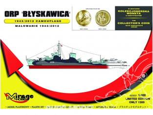 Mirage maquette Bateau 400001 contre-torpilleur ORP Błyskawica 1/400