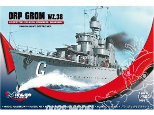 Mirage maquette Bateau 400612 destroyers ORP GROM wz.38 1/400