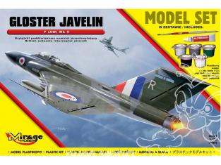 Mirage maquette bateaux 872093 Model Set GLOSTER JAVELIN F (AW) Mk 9 Avion intercepteur subsonique britannique 1/72