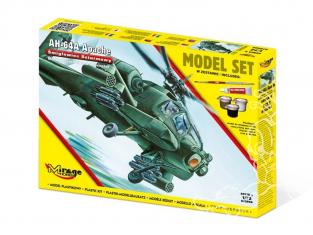Mirage maquette helicoptere 872094 Model Set Hélicoptère d'attaque Apache AH-64A 1/72