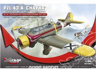 Mirage maquette avion 481404 PZL.43 Une force aérienne militaire bulgare 1941-1944 1/48