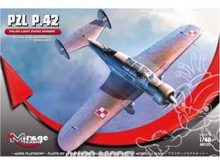Mirage maquette avion 481320 PZL P.42 BOMBARDIER PLONGÉE POLONAIS 1/48