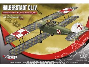 Mirage maquette avion 481403 HALBERSTADT CL.IV Guerre polonaise-soviétique / Forces d'occupation RAF 1919 1/48