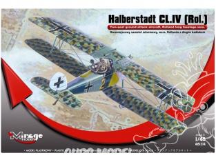 Mirage maquette avion 481314 Halberstadt CL.IV [Rol.] Version Rolland avec une longue coque 1/48