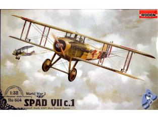 Roden maquettes avion 604 SPAD VII 1/32