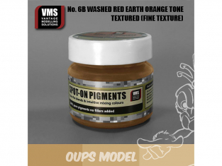VMS Spot-On Pigments No6bFT Terre rouge ton orange délavé Fine tex 45ml