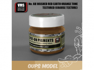 VMS Spot-On Pigments No6bCT Terre rouge ton orange délavé Coarse tex 45ml