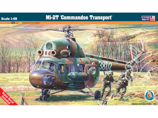 Master CRAFT maquette helicoptére 061524 Mil Mi-2T Comandos Transport 1/48