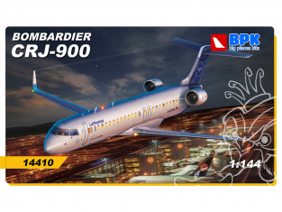 BPK maquette avion 14410 Bombardier CRJ-900 1/144