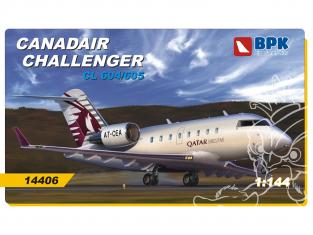 BPK maquette avion 14406 Canadair Challenger CL604/605 1/144