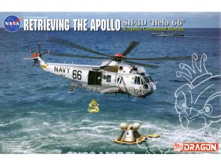 """Dragon espace 11026 Récupération du module de commande Apollo """"SH-3D"""" Helo 66 """"et Apollo 1/72"""