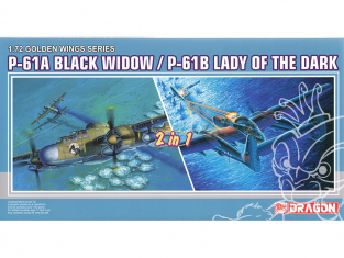 Dragon maquette avion 5122 P-61A / P-61B Black Window Dame des ténèbres 1/72