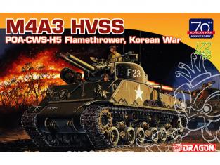 Dragon maquette militaire 7524 M4A3 HVSS POA-CWS-H5 Lance-flammes guerre de Corée 1/72