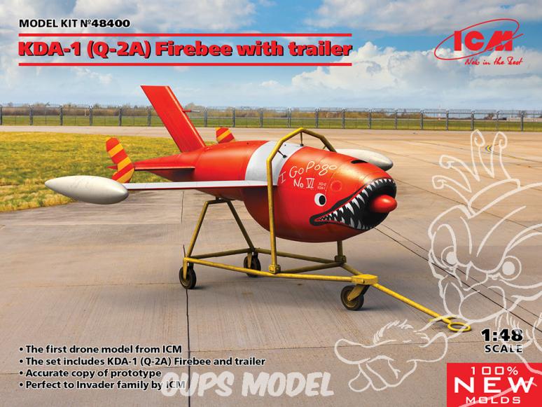 Icm maquette avion 48400 KDA-1 (Q-2A) Firebee avec berceau 1/48