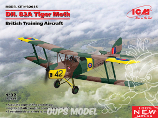 Icm maquette avion 32035 DH. 82A Tiger Moth Avion d'entraînement britannique 1/32
