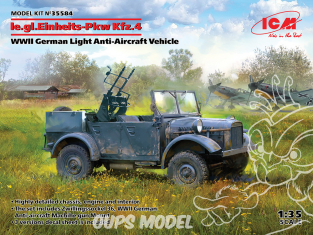 Icm maquette militaire 35584 le.gl.Einheits-Pkw Kfz.4 Véhicule antiaérien léger allemand WWII 1/35