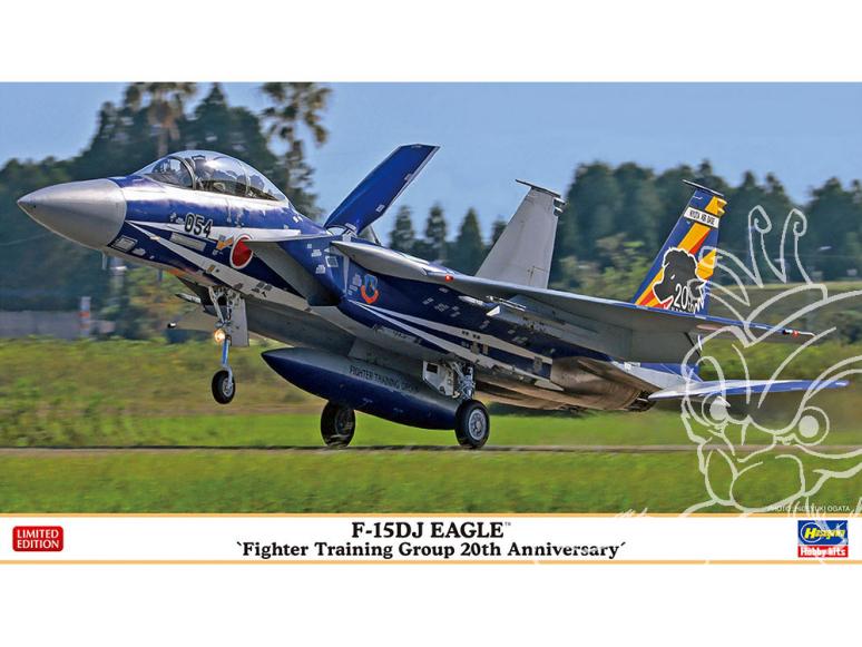 HASEGAWA maquette avion 02362 F-15DJ Eagle «20e anniversaire du groupe d'entraînement des chasseurs» 1/72