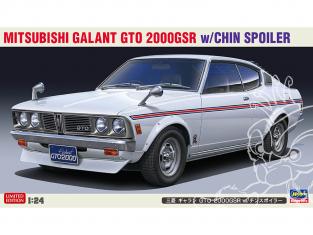 Hasegawa maquette voiture 20475 Mitsubishi Galant GTO 2000GSR avec becquet 1/24