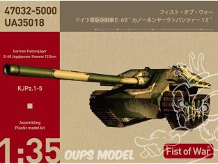 Modelcollect maquette militaire UA35018 Char Allemand E-60 Heavy jadge panther avec canon de 128mm 1/35