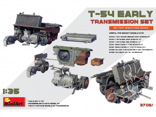 Mini Art maquette militaire 37051 ENSEMBLE DE TRANSMISSION EARLY pour T-54 1/35