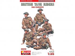 Mini Art maquette militaire 35312 Soldats Britanniques assis sur un char EUROPE du Nord-Ouest ÉDITION SPÉCIALE 1/35