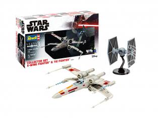 Revell maquette Star Wars 06054 Collector Set X-Wing Fighter + TIE Fighter inclus colle pinceau et peintures