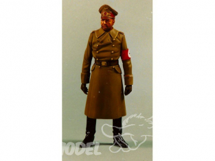 Oups maquette figurine historique Officier Wafen SS Manteau Long 120mm