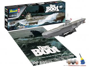 Revell maquette sous marin Model set 05675 Das Boot Edition Collector 40eme inclus peintures principale colle et pinceau 1/144