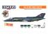 "Hataka Hobby peinture laque Orange Line CS111 Ensemble de peinture Yak-38/38M ""Forger"" set 6 x 17ml"