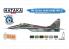 Hataka Hobby peinture acrylique Blue Line BS105 Ensemble de peinture 4 couleurs MiG-29A /UB 6 x 17ml