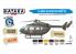 Hataka Hobby peinture acrylique Blue Line BS19 Ensemble de peinture pour hélicoptères de l'armée américaine 6 x 17ml