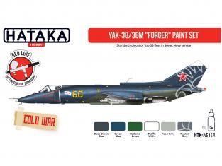 Hataka Hobby peinture acrylique Red Line AS111 Ensemble de peinture Modern RN Fleet Air Arm vol.1 6 x 17ml