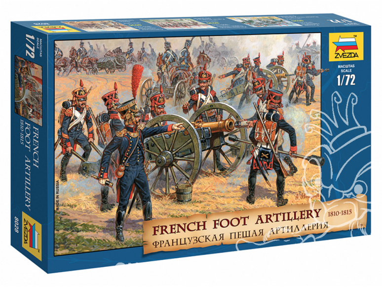 Zvezda maquette figurines 8028 Artillerie à pied française 1810-1814 (Édition limitée) 1/72