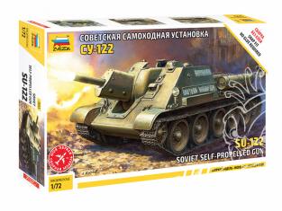 Zvezda maquette militaire 5043 Canon automoteur soviétique SU-122 1/72
