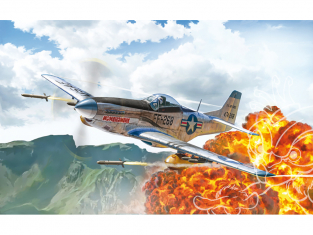 Italeri maquette avion 1452 North American F-51D Mustang Korean War 1/72